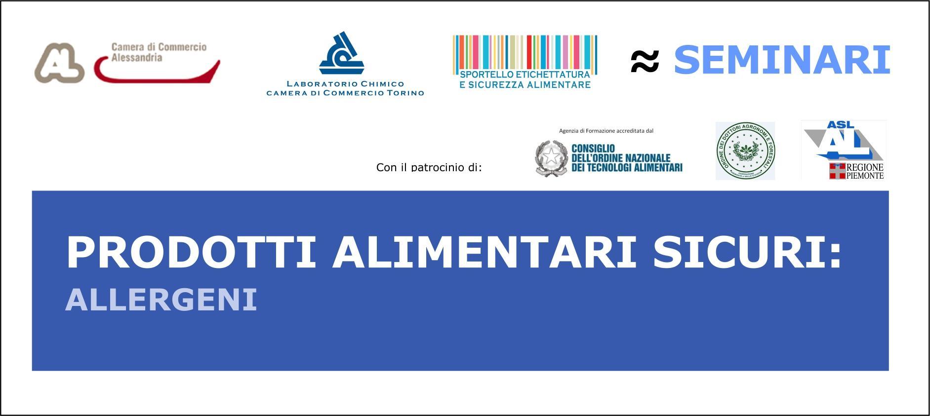 """Seminario """"Prodotti Alimentari Sicuri: Allergeni"""""""