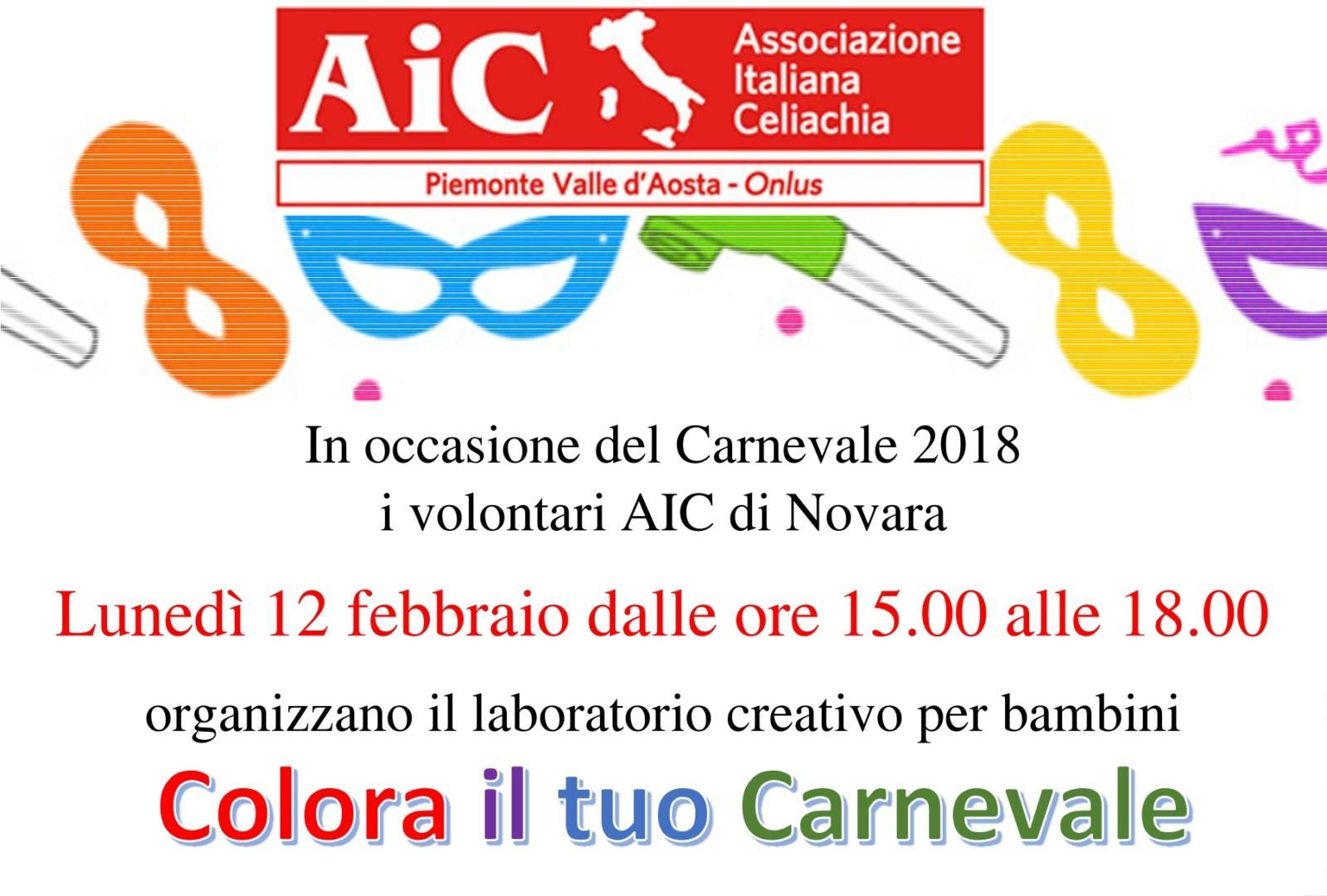"""""""Colora il tuo Carnevale"""", laboratorio creativo per bambini a Novara"""