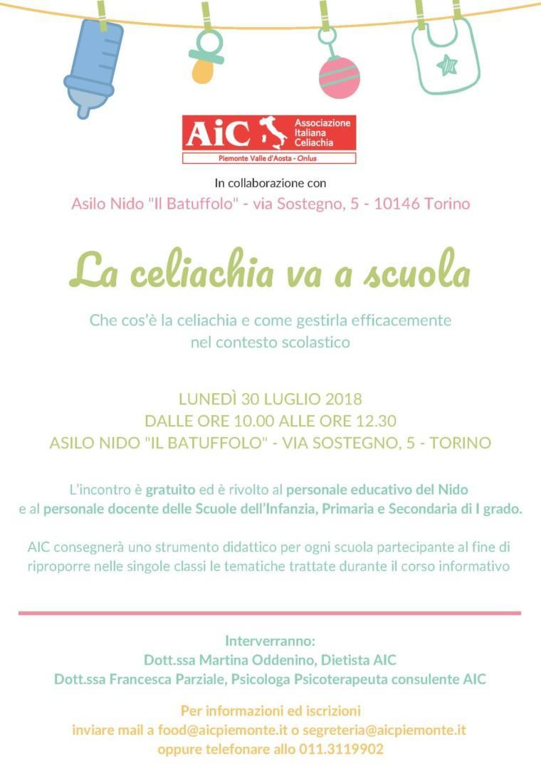 """""""La celiachia va a scuola"""": corso per docenti a Torino"""