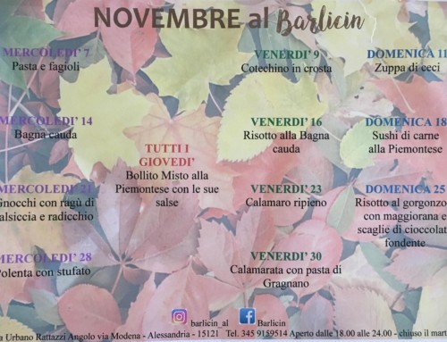 """""""Novembre 2018 al Barlicin"""""""