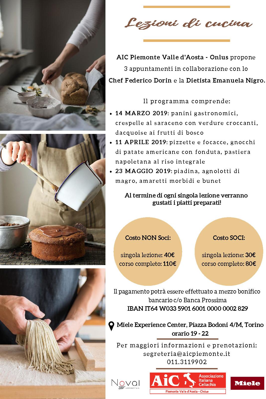 Lezioni di Cucina - Secondo Appuntamento! - AIC Piemonte