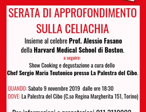SAVE THE DATE – SERATA DI APPROFONDIMENTO SULLA CELIACHIA
