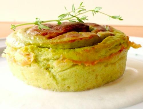 Sformato di verdure gluten free con fonduta