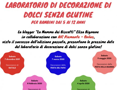 Laboratorio di decorazione di dolci senza glutine – SAVE THE DATE