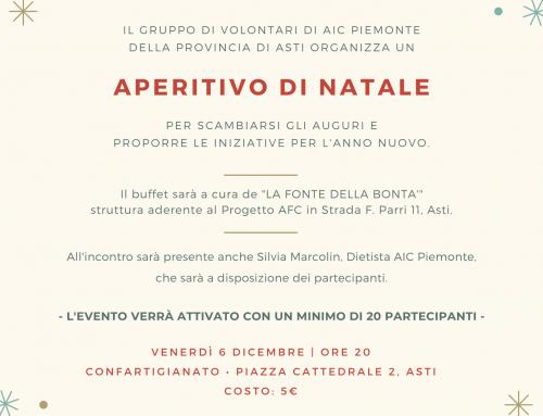 Aperitivo di Natale – Volontari AIC Piemonte Prov. di ASTI