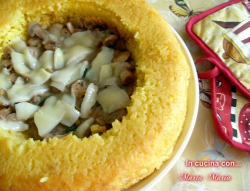 Anello di riso glutine free con pollo e funghi