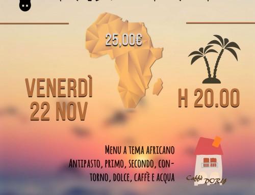 Cena Africana Gluten Free – Caffè Dory