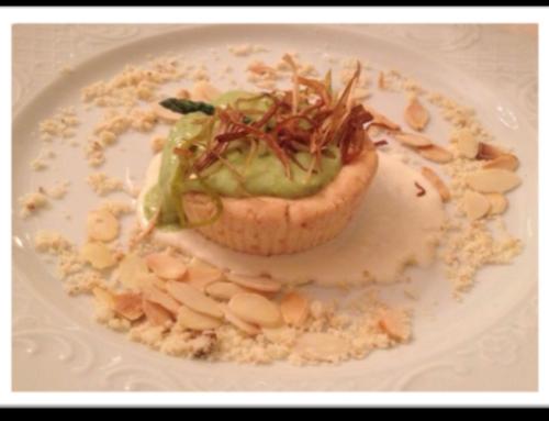 Sbrisolona gluten free su fonduta di Cevrin di Coazze