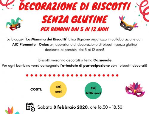 Laboratorio di decorazione di biscotti senza glutine a tema Carnevale! – Torino