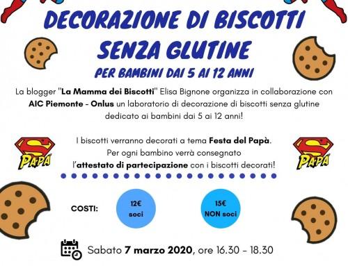 Laboratorio di decorazione di biscotti senza glutine a tema Festa del Papà! – Torino