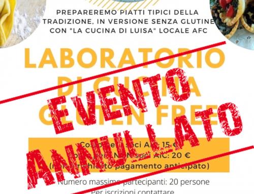 ANNULLAMENTO Laboratorio di cucina tradizionale Piemontese Gluten Free – Occimiano (AL)