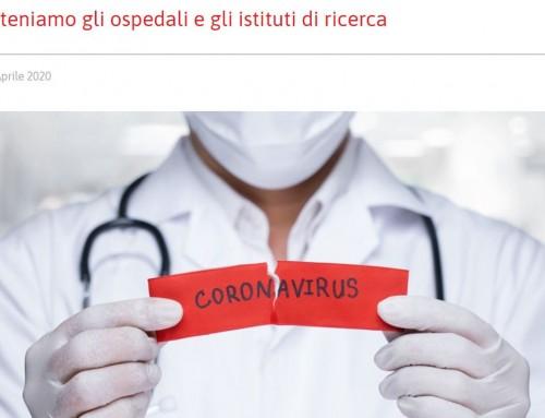 Sosteniamo gli ospedali e gli istituti di ricerca