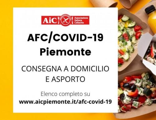 AFC/COVID-19: consegna a domicilio/asporto senza glutine