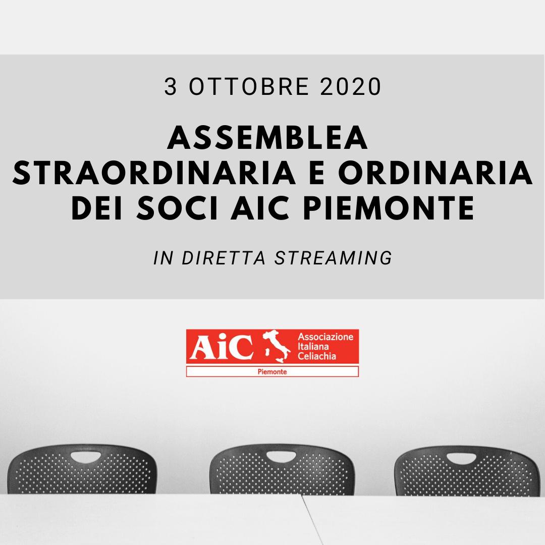 Assemblea Straordinaria e Ordinaria dei Soci AIC Piemonte 2020