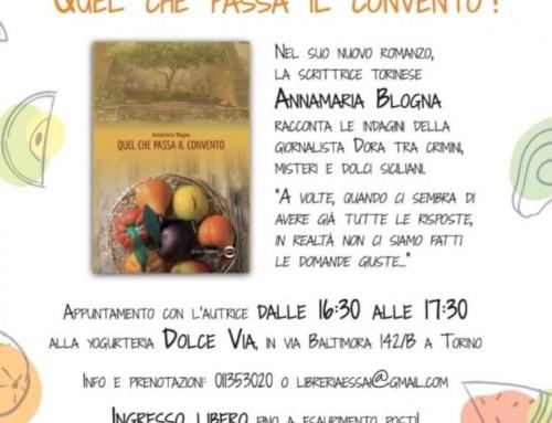"""Presentazione libro """"Quel che passa il convento"""" – Dolce Via Torino"""
